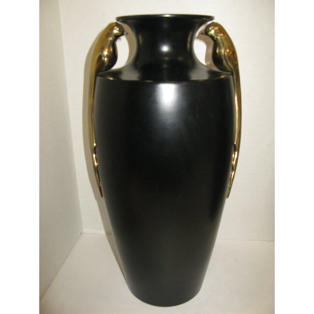 Black & Brass Art Deco Metal Vases - A Pair - Image 11 of 11