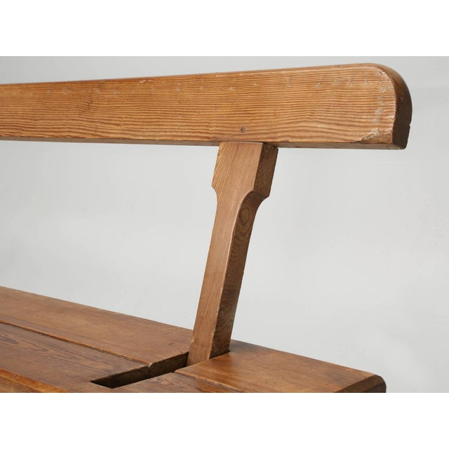 Antique Country Pine Bench With Adjustable Back For Sale In Chicago - Image 6 of 13