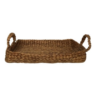 Woven Water Hyacinth Tray For Sale