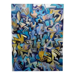 Peter Juvonen -Ringing in My Sleep-Abstract Painting on Canvas For Sale