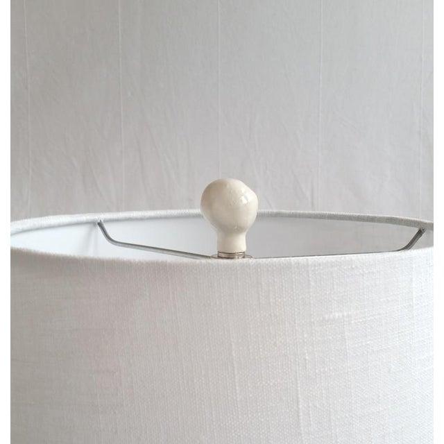 Contemporary Scandinavian Handmade Ceramic Ball Finials - A Pair For Sale - Image 4 of 8