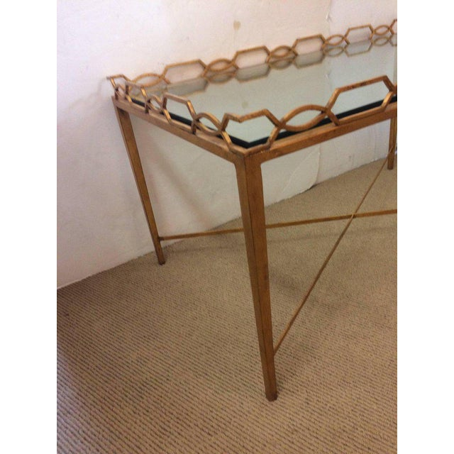 1970s Italian Gold-Leaf Coffee Table For Sale - Image 4 of 9