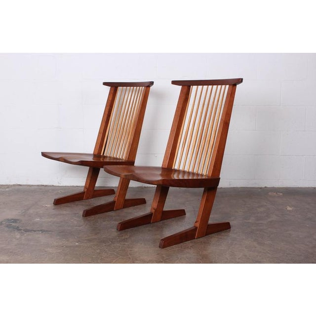 Pair of Conoid Lounge Chairs by George Nakashima For Sale - Image 9 of 10