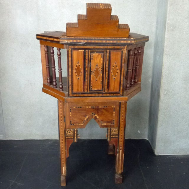 Early 20th Century Turkish Wood Inlay Chair - Image 4 of 6