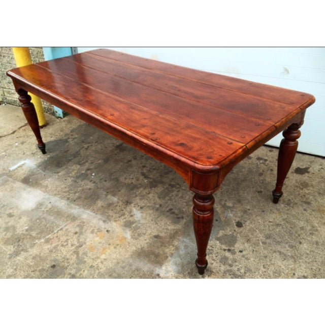Theodore Alexander Reclaimed Dining Table - Image 2 of 4