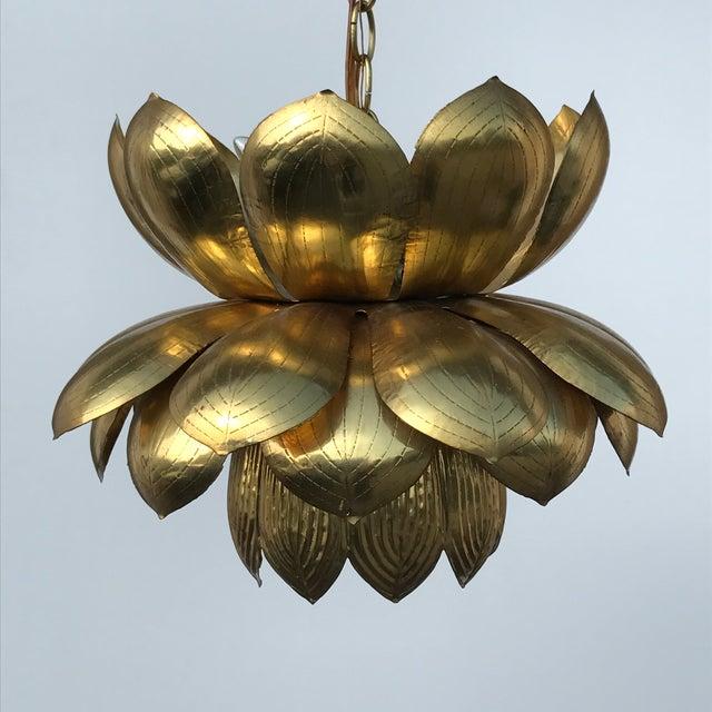 Feldman Brass Lotus Chandelier Lamp - Image 2 of 9