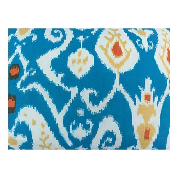 Turquoise Ikat Pillows - Pair - Image 4 of 4