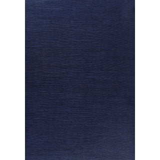 Sample - Schumacher Haruki Sisal Wallpaper in Indigo For Sale