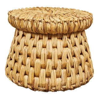 Guatemalan Sea Grass Handwoven Stool For Sale