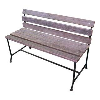 Reclaimed Coney Island Boardwalk Wood Outdoor Bench