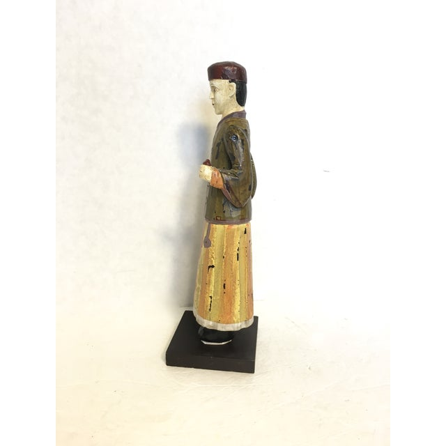 Hand-Carved & Painted Chinoiserie Statue - Image 4 of 6