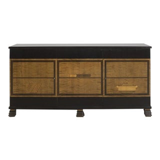 Otto Schulz Rare Credenza With Marquetry for Boet, Sweden, Ca. 1930 For Sale