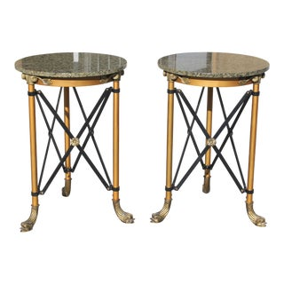 1920s French Bronze Side Tables - a Pair For Sale