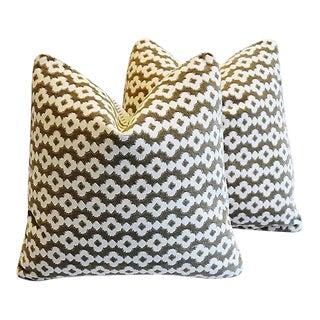 "Manuel Canovas Velvet Feather/Down Pillows 19"" Square - Pair"