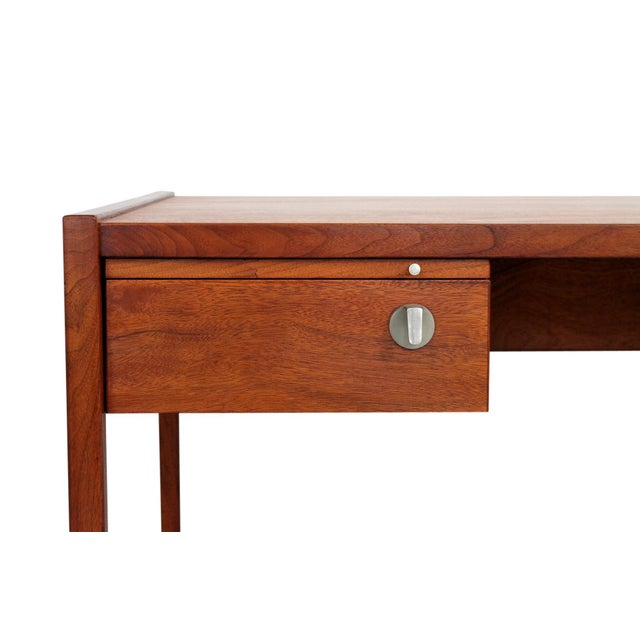 Brown Rare Architect's Desk by Jens Risom For Sale - Image 8 of 13
