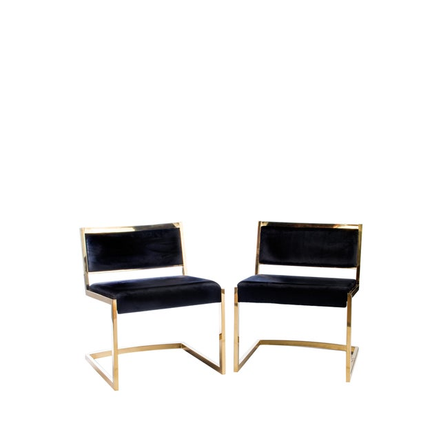 Bradley Gold and Black Dining Chairs For Sale - Image 4 of 5