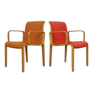 Set of Vintage Armchairs by Bill Stephens for Knoll For Sale