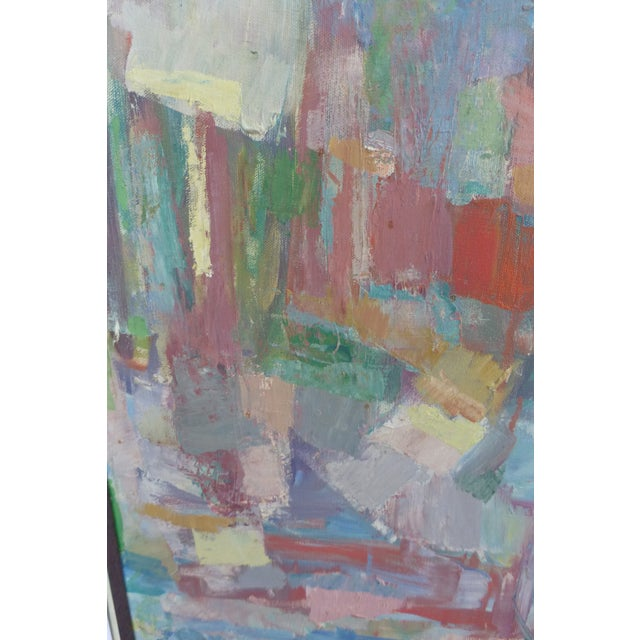 Signed Abstract Oil Painting by Jean Gunther, Listed Artist - Image 8 of 13
