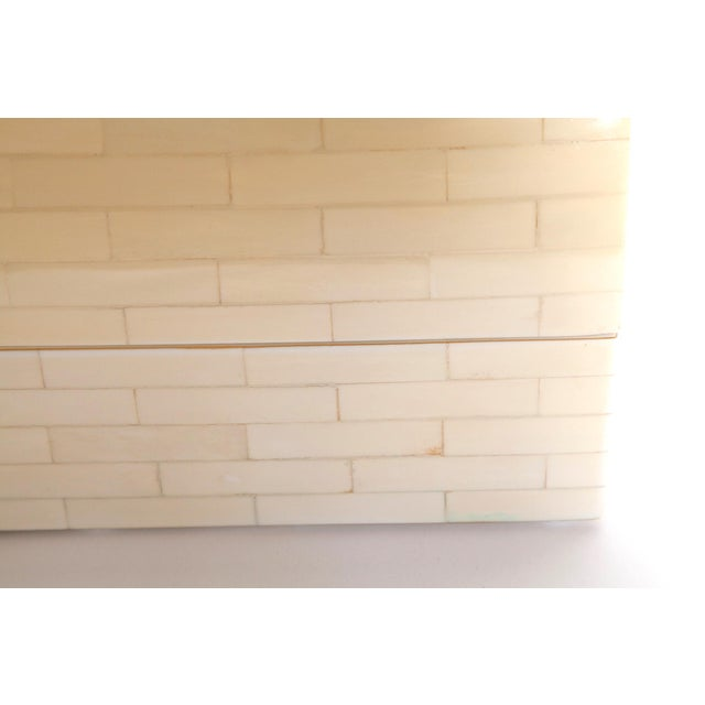 Contemporary Large Tessellated Bone Box, Circa 1980 For Sale - Image 3 of 13
