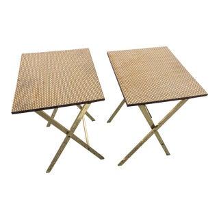 Mid Century Modern Artex Folding Side Tables - a Pair For Sale