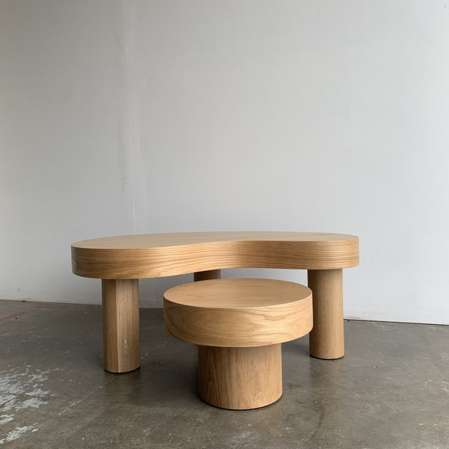 1980s Style Kidney Two Tiered Coffee Table - a Pair For Sale - Image 4 of 13