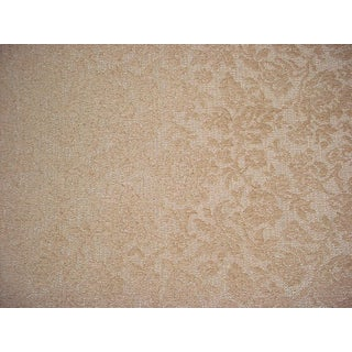 Lee Jofa Guestling Oats Floral Damask Chenille Upholstery Fabric- 3-5/8 Yards For Sale