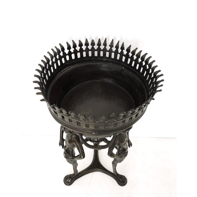 Magnificent Classical Italian Style Bronze 'Satyr' Planter / Brazier For Sale - Image 4 of 9