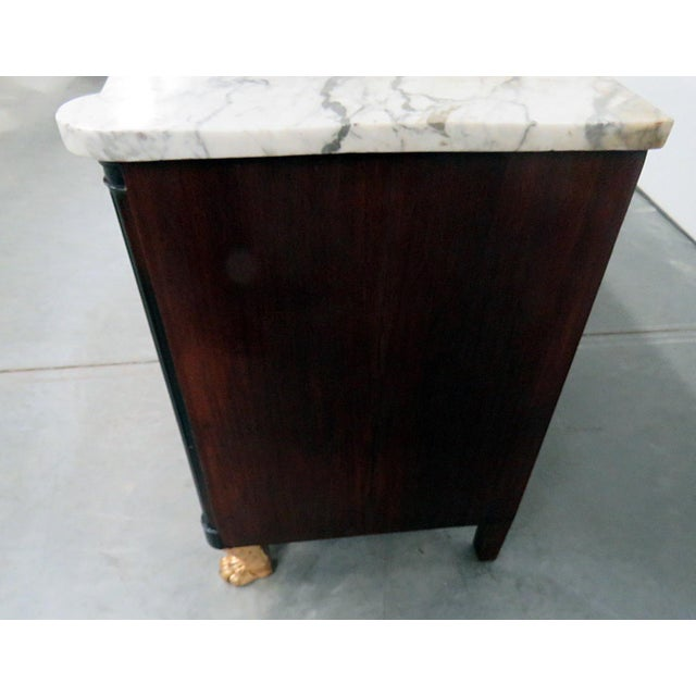 Late 19th Century 19thC French Directoire Style Marble Top Commode For Sale - Image 5 of 10