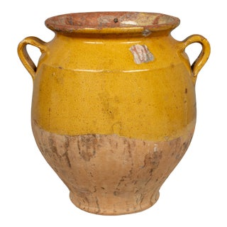 Antique French Terracotta Confit Pot For Sale