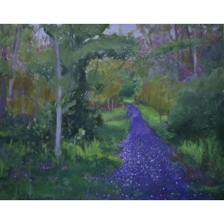 """Petals on the Path"" Contemporary Painting by Stephen Remick For Sale"