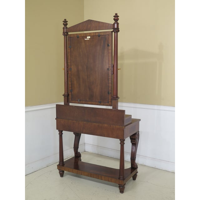 Maitland Smith Figural Mahogany Empire Dressing Vanity For Sale - Image 10 of 13