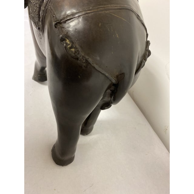 Early 21st Century Bronze Elephant Statue For Sale - Image 5 of 8