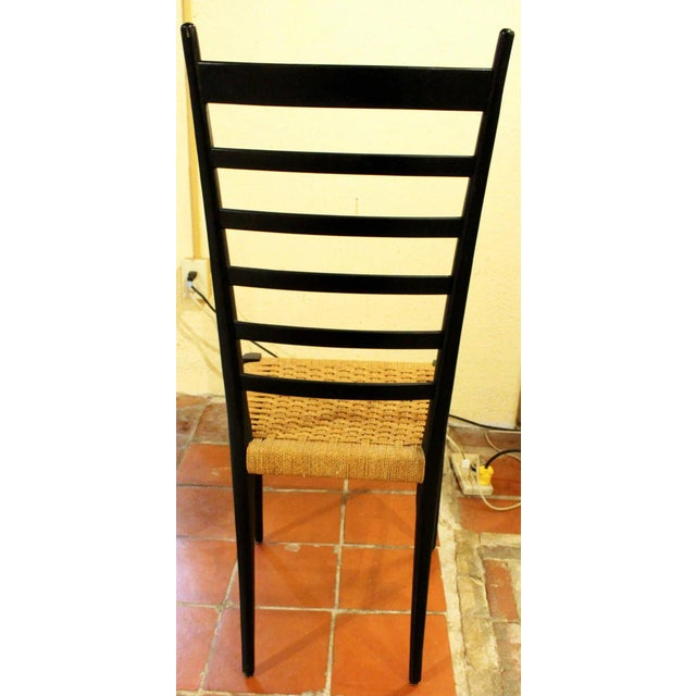 Gio Ponti Style Ladder Back Chairs - Set of 4 For Sale In Raleigh - Image 6 of 7