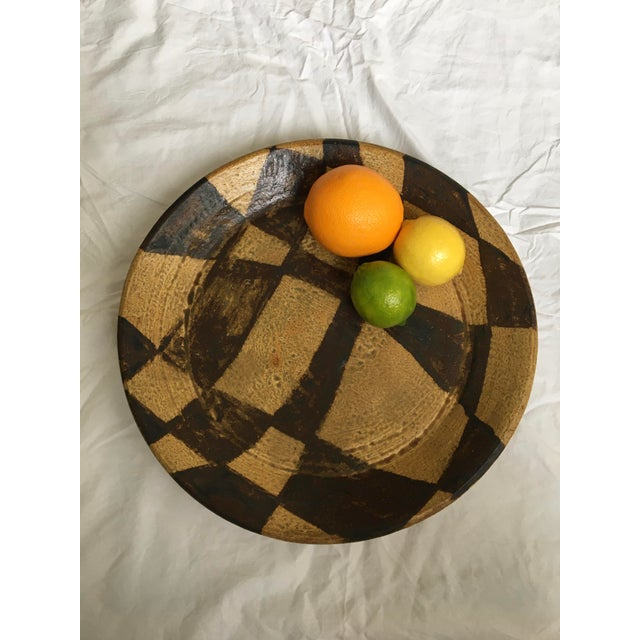 Mid Century Modern Japanese Stoneware Serving Piece/ Platter, Made in Japan For Sale - Image 4 of 7