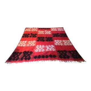 Vintage Scandinavian Loom Blanket