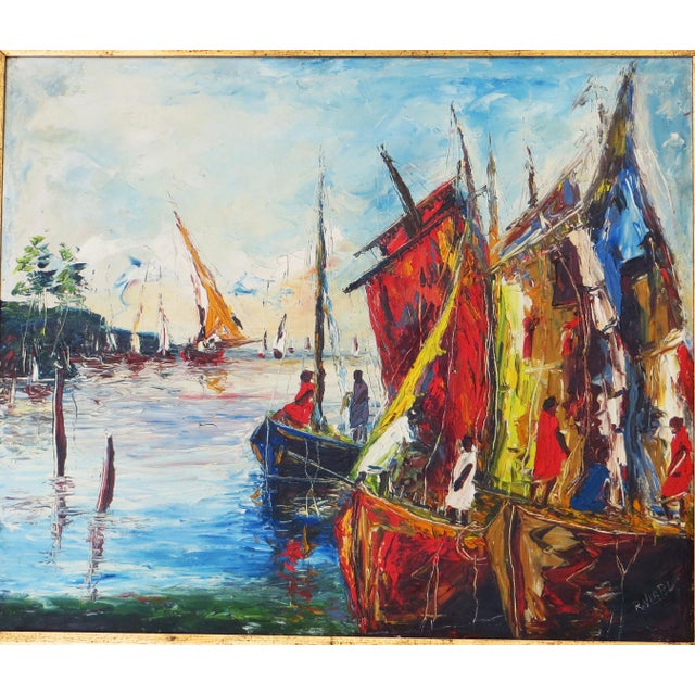 Modern Raoul Viard Haitian Modernist Oil Painting For Sale - Image 3 of 7