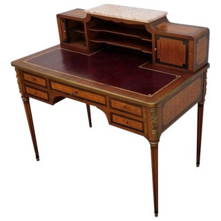 French Louis XVI Style Parquetry Desk, Circa 1900 For Sale