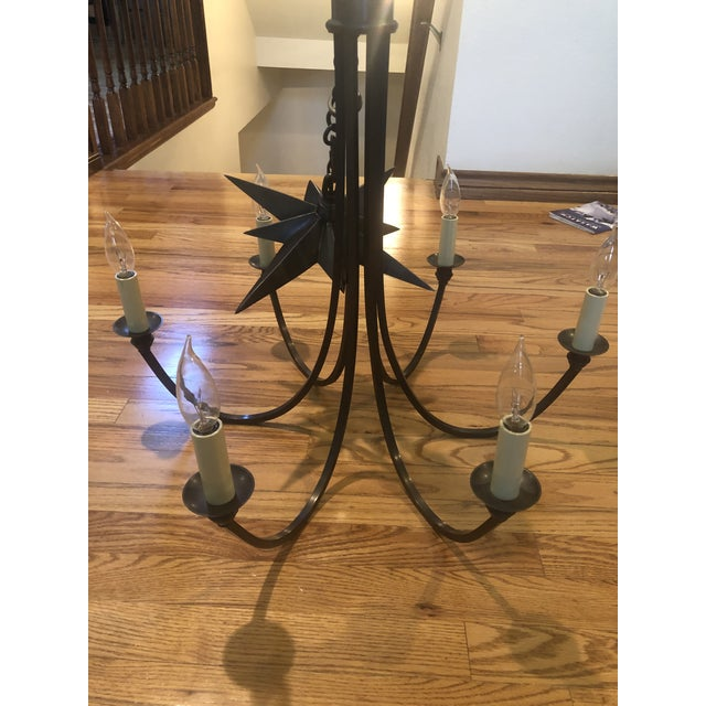 Visual Comfort Visual Comfort Eric Cohler Venetian 6 Light Bronze Chandelier For Sale - Image 4 of 6