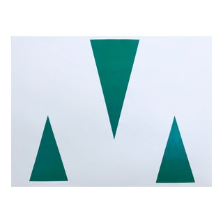"Original Acrylic Painting ""Green Triangles"""