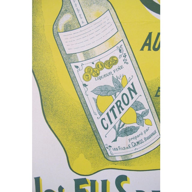 French Vintage Alcohol Ad, Citron Camus - Image 3 of 5