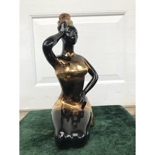 1960s Mid Century Majolica Seated Lady Decanter Preview