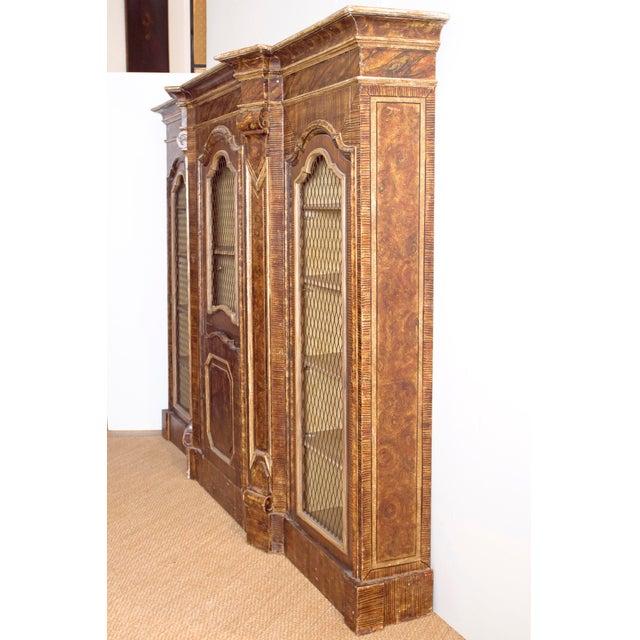 Mid-19th Century Italian Rococo Style Bookcase For Sale In Dallas - Image 6 of 13