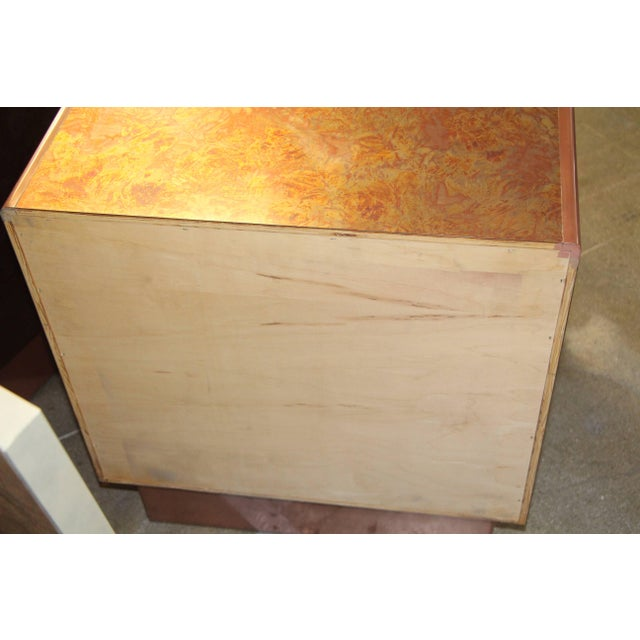 Patinated Copper Sheet Clad Nightstands or Chests - a Pair For Sale - Image 4 of 13