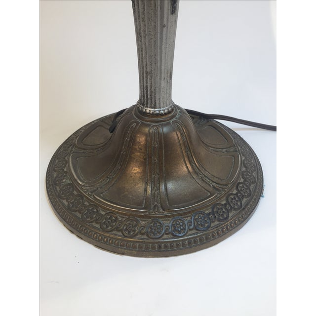 Antique Slag Lamp 1800's For Sale - Image 4 of 6