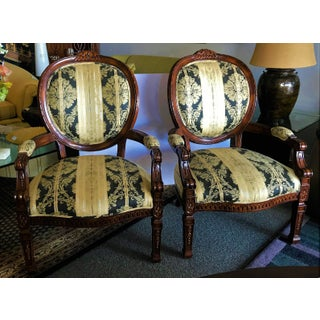 Cherry Framed Bergere Chairs- a Pair Preview