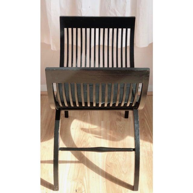 Traditional Black Savonarola Chair For Sale - Image 3 of 7
