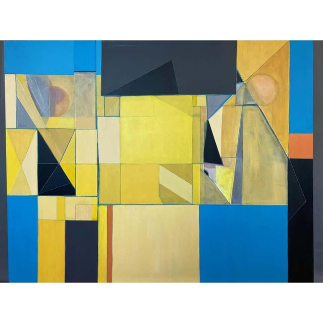 """1990s Robert English """"Etheric Double"""", Large Abstract Cubist Painting, 1994-1995 For Sale - Image 5 of 13"""