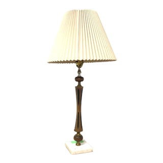 Vintage Danish Modern Lamp With Shade For Sale