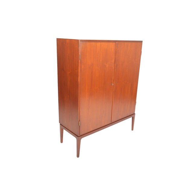 Tall Danish Modern Teak Bureau - Image 3 of 10