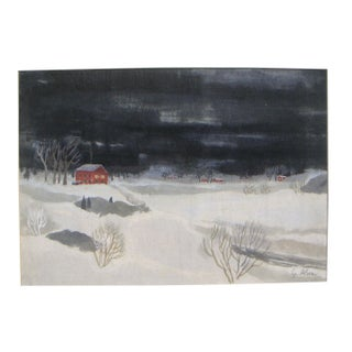Alexanderson Scandinavian Winter Painting